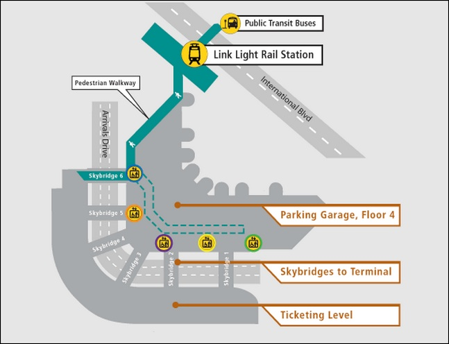 How to Get to the Light Rail at SeaTac Airport (Video) – The SunBreak