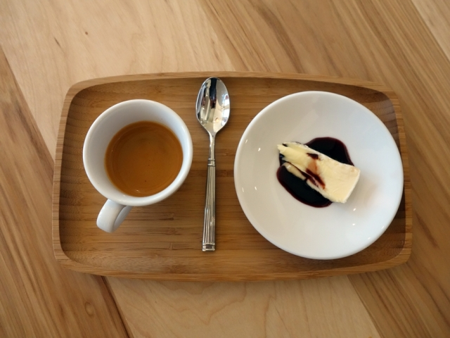 Espresso shot with St. Angel triple cream cheese and elderberry syrup at Mercantile Dining & Provision