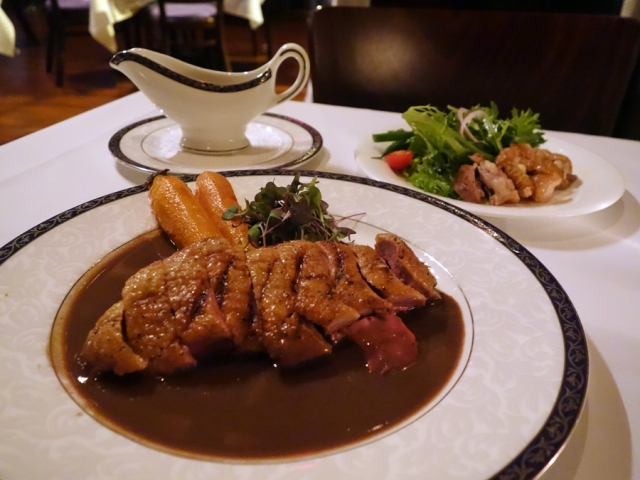 …EDWINS' pressed duck with blood sauce
