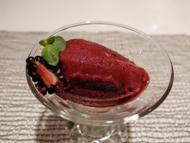 Intermezzo: blackberry sorbet