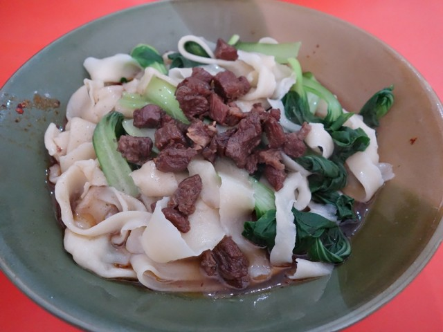 Slightly soupy version of biang-biang noodles