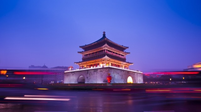The symbolic Bell Tower of Xi'an (photo courtesy of Hilton Xi'an)
