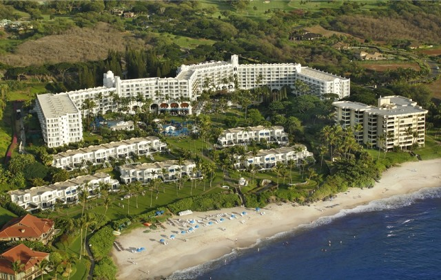 Aerial view of the Fairmont (photo courtesy of the Fairmont Kea Lani)
