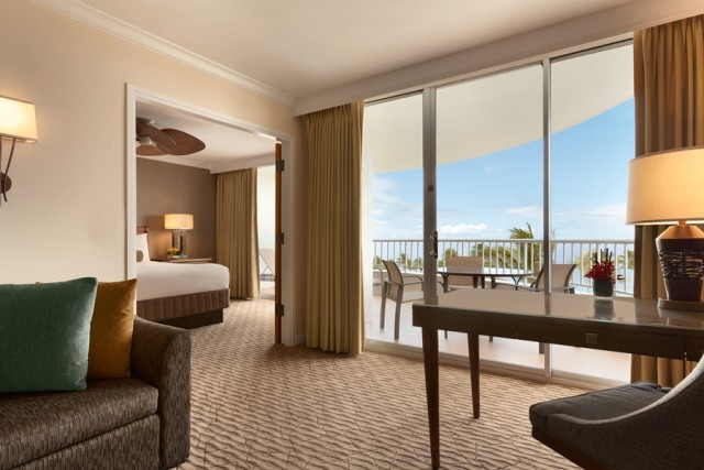 Inside a Fairmont suite (photo courtesy of the Fairmont Kea Lani)