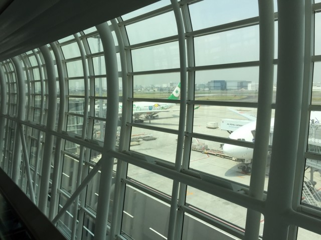 Awaiting my flight in Tokyo, I laughed when I saw I'd be on one of EVA Air's Hello Kitty planes