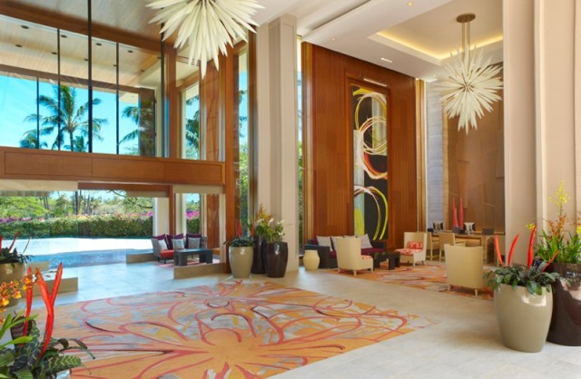 Lobby entrance to the Hyatt (photo courtesy of the Hyatt Regency Maui Resort and Spa)