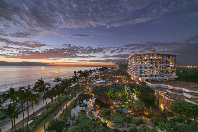 Aerial view of the Hyatt property (photo courtesy of the Hyatt Regency Maui Resort and Spa)