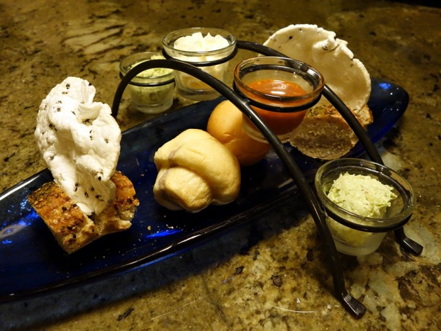 Bread service at Ko restaurant