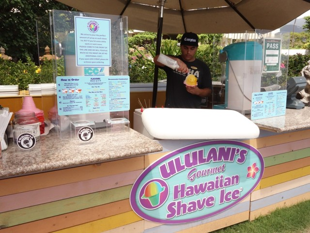 Ululani's stand at the Hyatt Regency Maui Resort and Spa