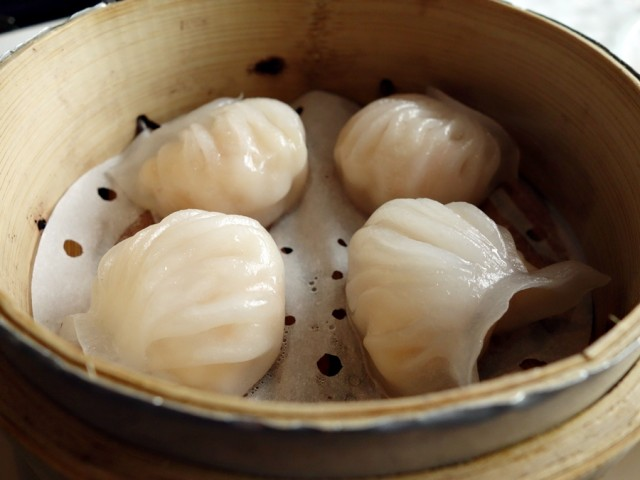 """Excellent har gow at YEN, with """"snappy"""" shrimp and a delicate wrapper"""