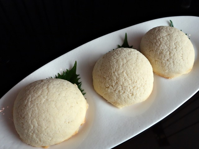 Sugar-frosted baked barbecue pork buns at YEN