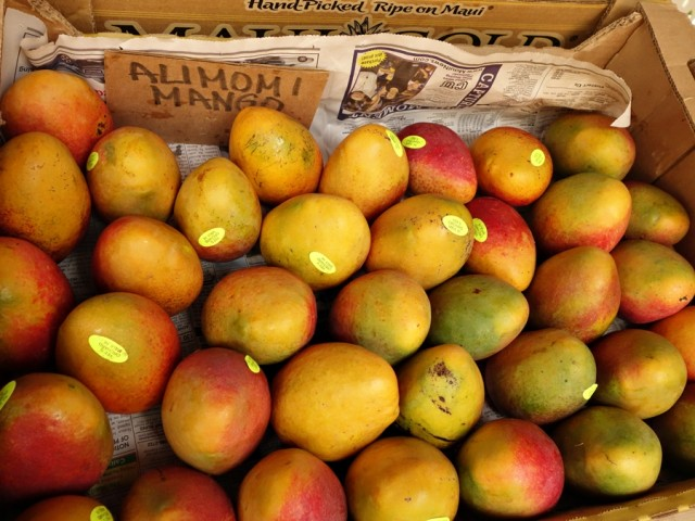 Alimomi mangos from Yee's Orchard were a highlight of the trip to Maui