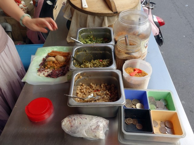 Fun fillings included shredded pork, salted dried radish, and a Chinese fried cruller