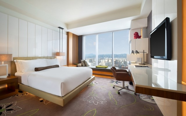 My guest room at the W Taipei, with wonderful window seating