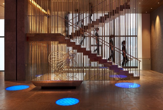 """""""Mood stairs"""" at the W Taipei"""